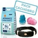 Pack Cachorro Razas Grandes Advance Maxi 15kg + Cama + Juguete Kong Puppy M